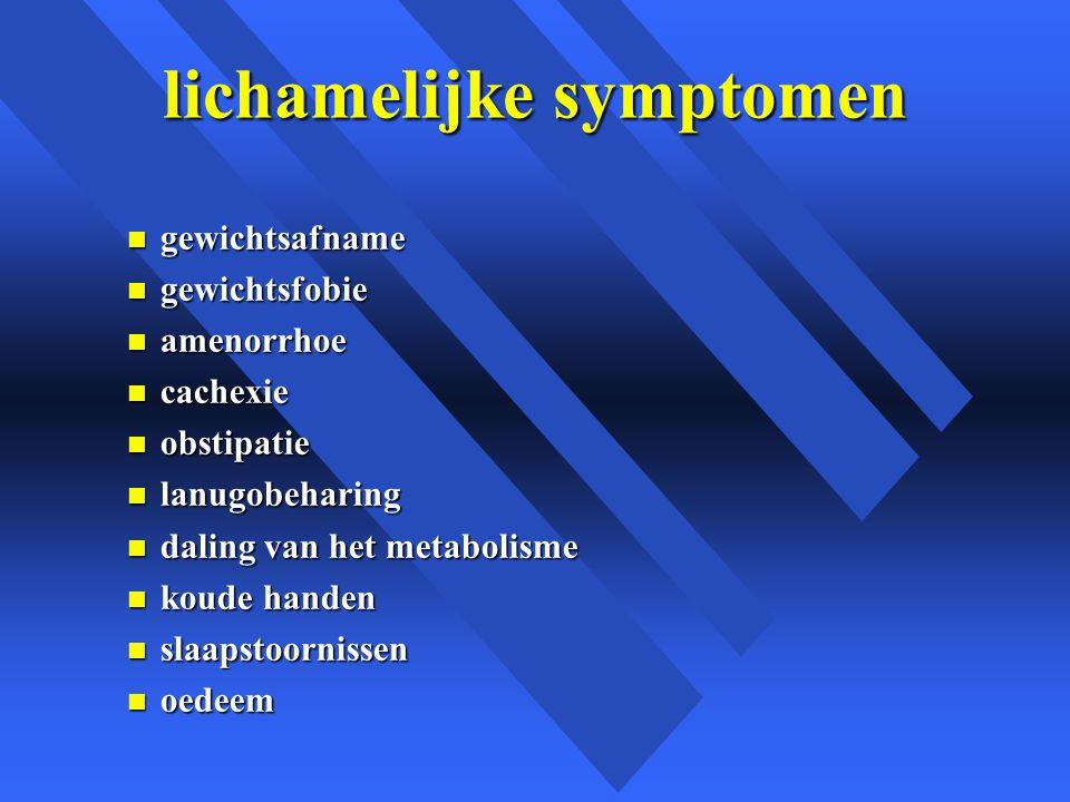 lichamelijke symptomen