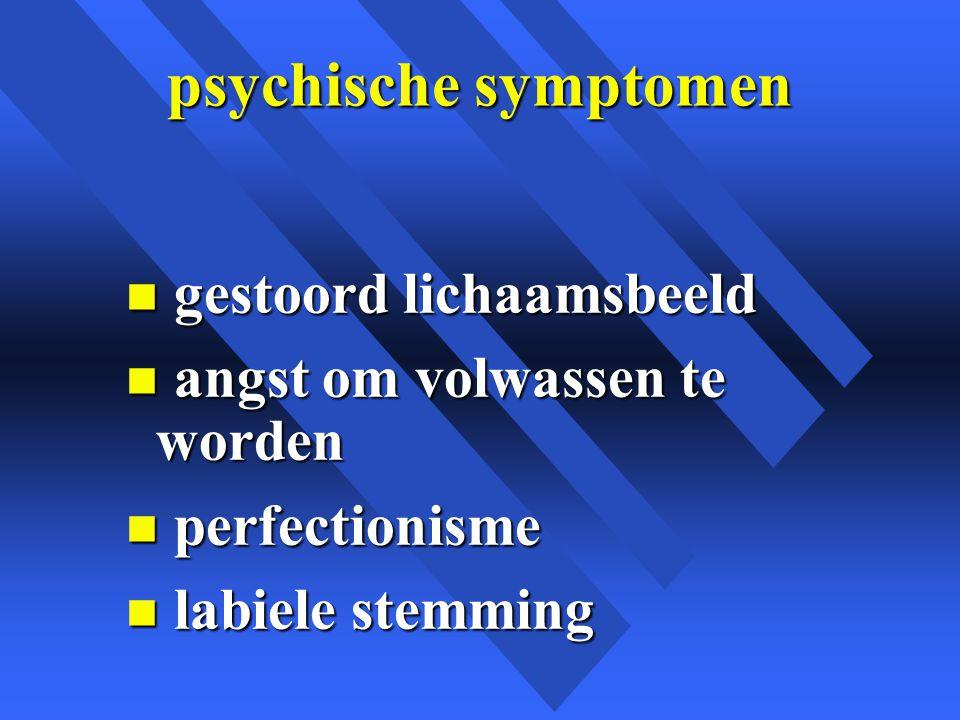 psychische symptomen gestoord lichaamsbeeld