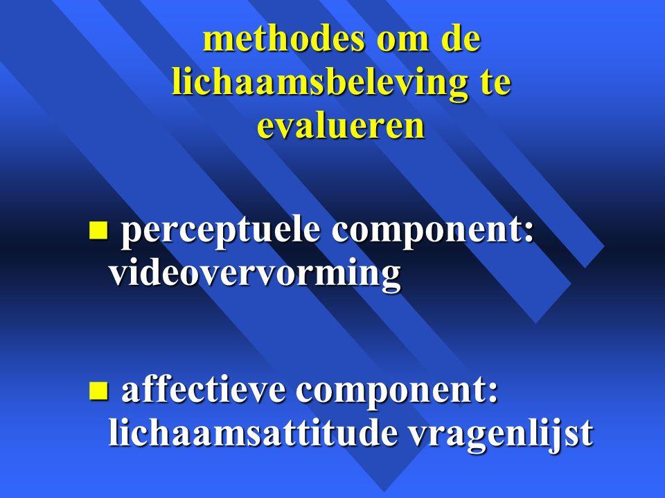 methodes om de lichaamsbeleving te evalueren