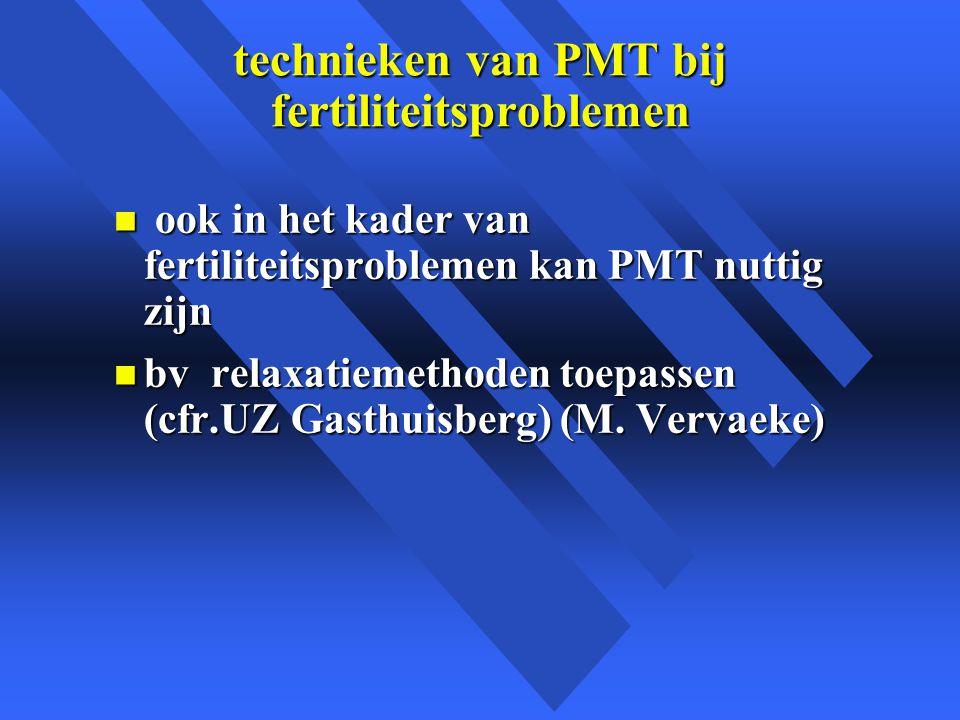 technieken van PMT bij fertiliteitsproblemen