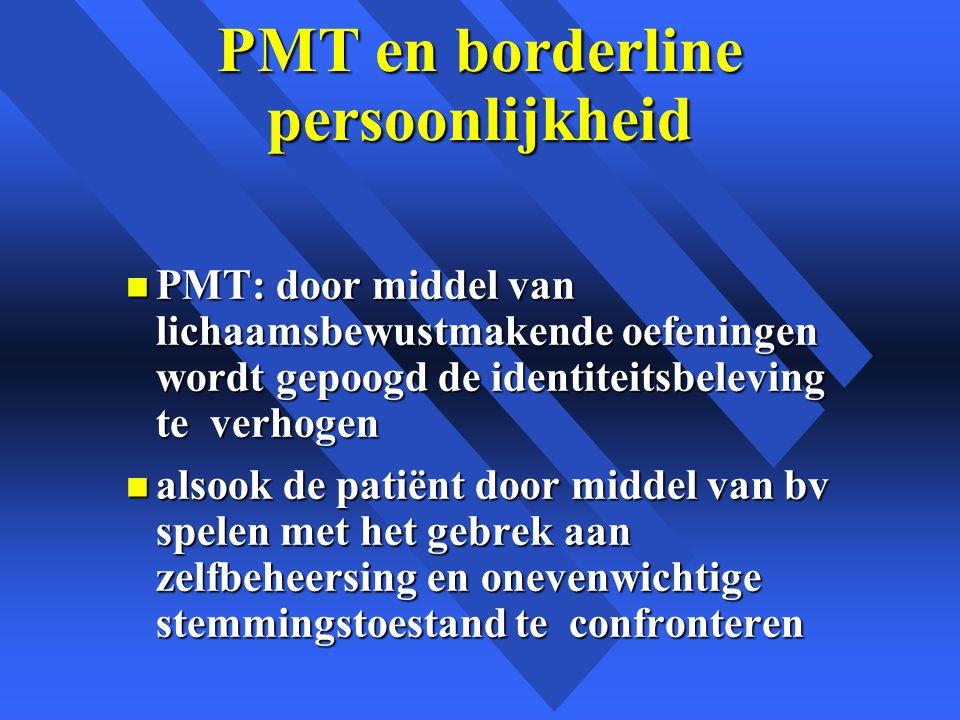 PMT en borderline persoonlijkheid