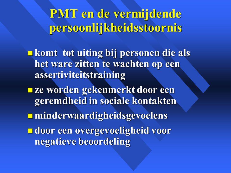 PMT en de vermijdende persoonlijkheidsstoornis