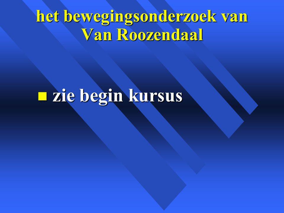 het bewegingsonderzoek van Van Roozendaal