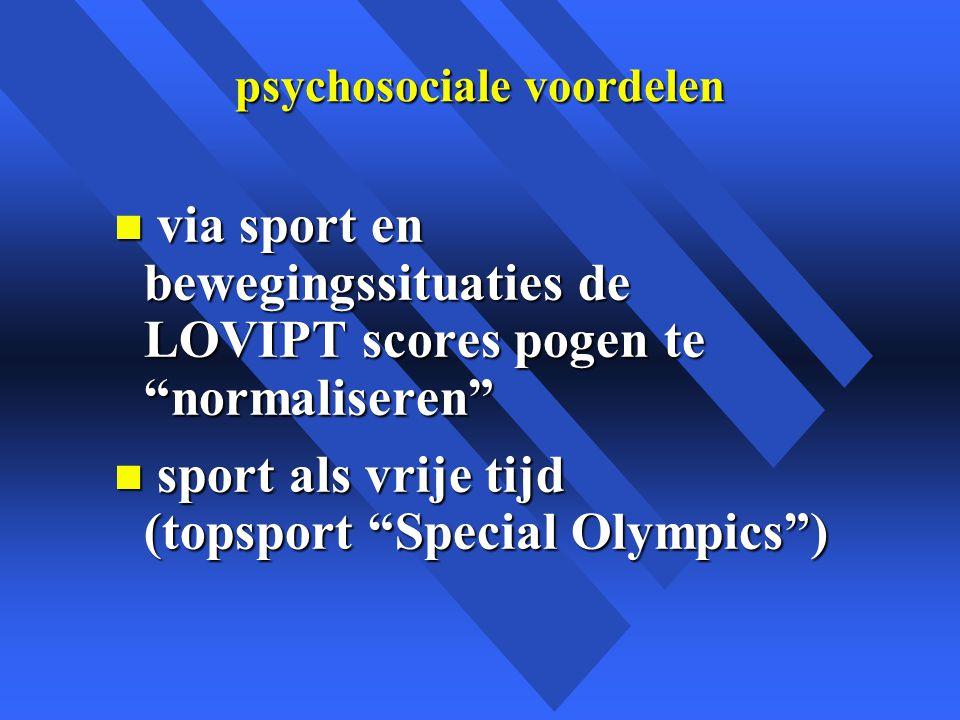 psychosociale voordelen
