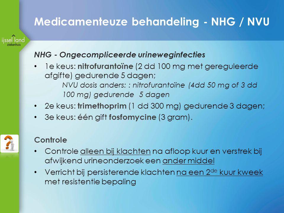 Medicamenteuze behandeling - NHG / NVU