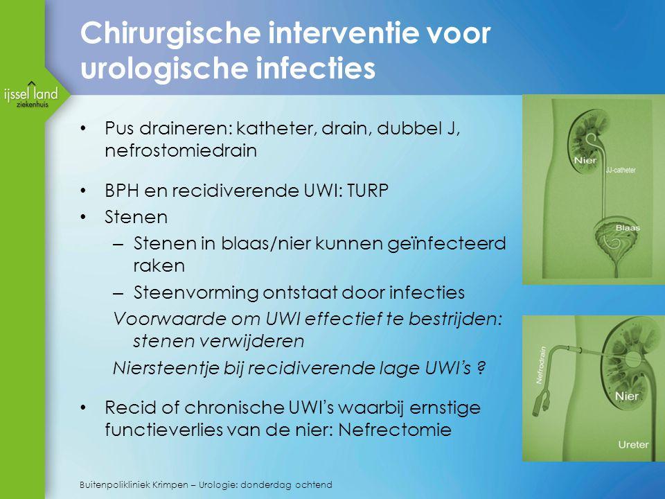Chirurgische interventie voor urologische infecties