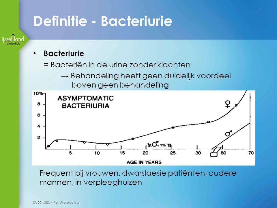 Definitie - Bacteriurie