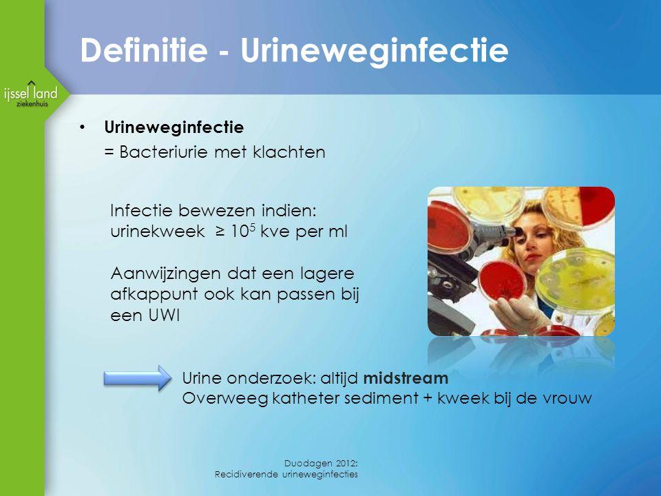 Definitie - Urineweginfectie