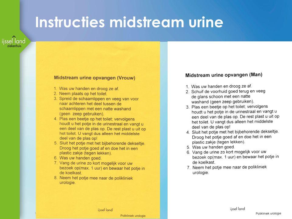 Instructies midstream urine
