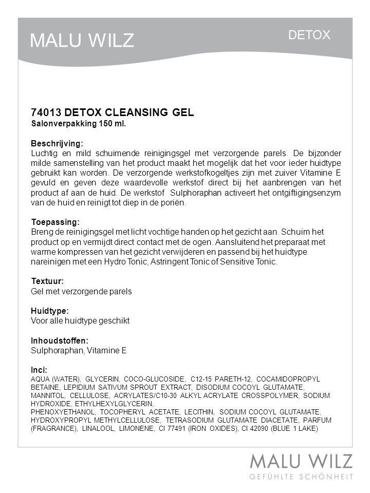 74013 DETOX CLEANSING GEL Salonverpakking 150 ml. Beschrijving: