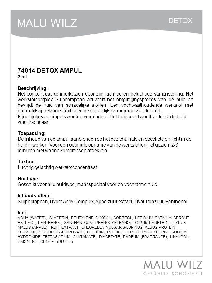 74014 DETOX AMPUL 2 ml Beschrijving: