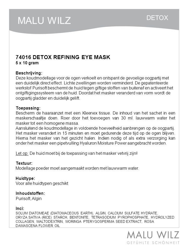 74016 DETOX REFINING EYE MASK
