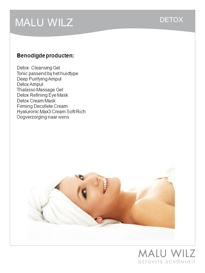 I. Die neuen Wirkstoffe Benodigde producten: Detox Cleansing Gel