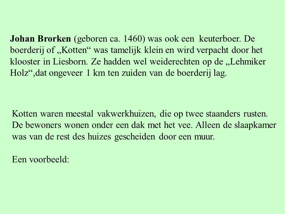 Johan Brorken (geboren ca. 1460) was ook een keuterboer