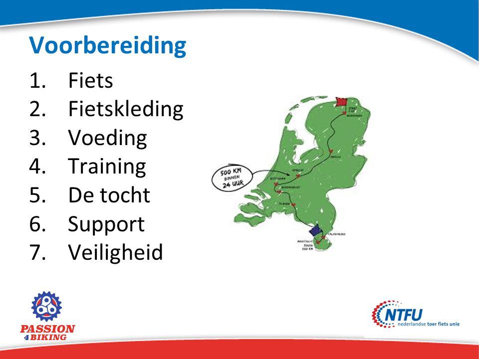 Voorbereiding Fiets Fietskleding Voeding Training De tocht Support