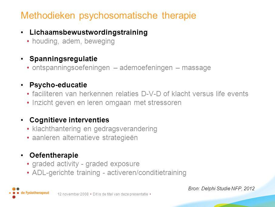 Methodieken psychosomatische therapie