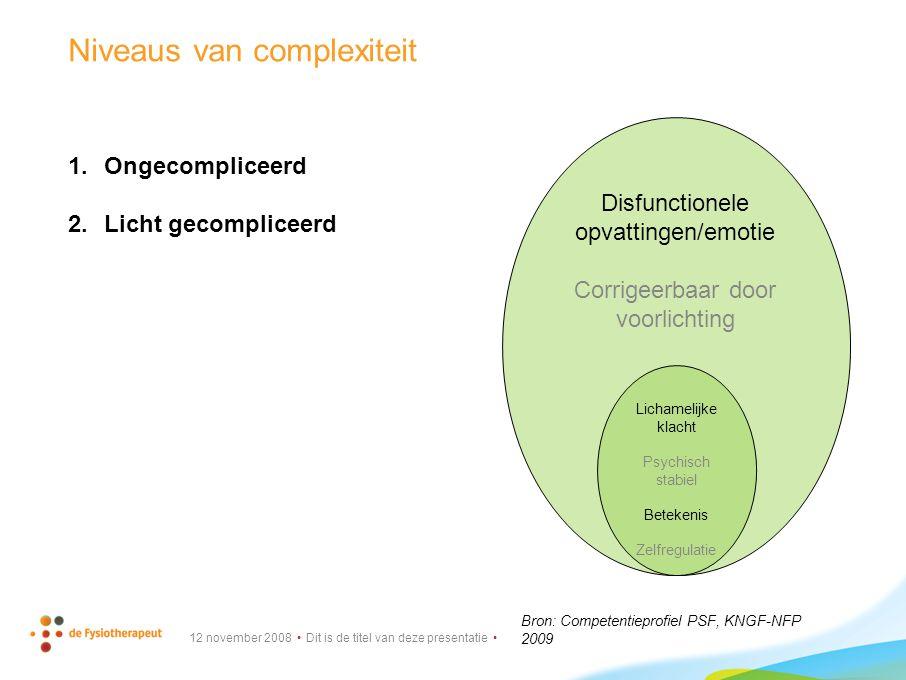 Niveaus van complexiteit
