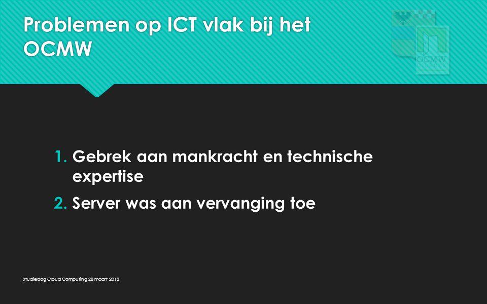 Problemen op ICT vlak bij het OCMW