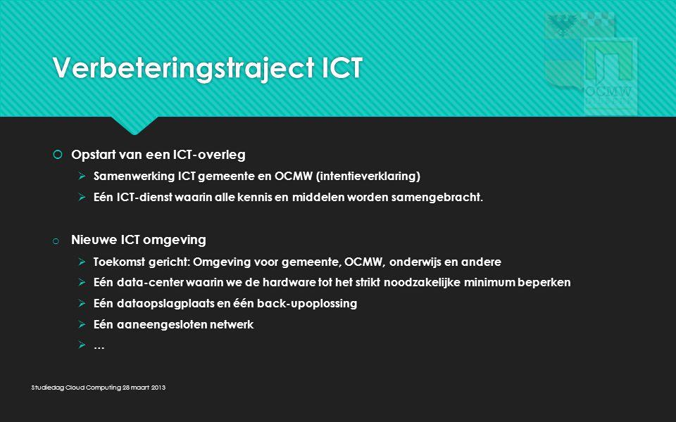 Verbeteringstraject ICT