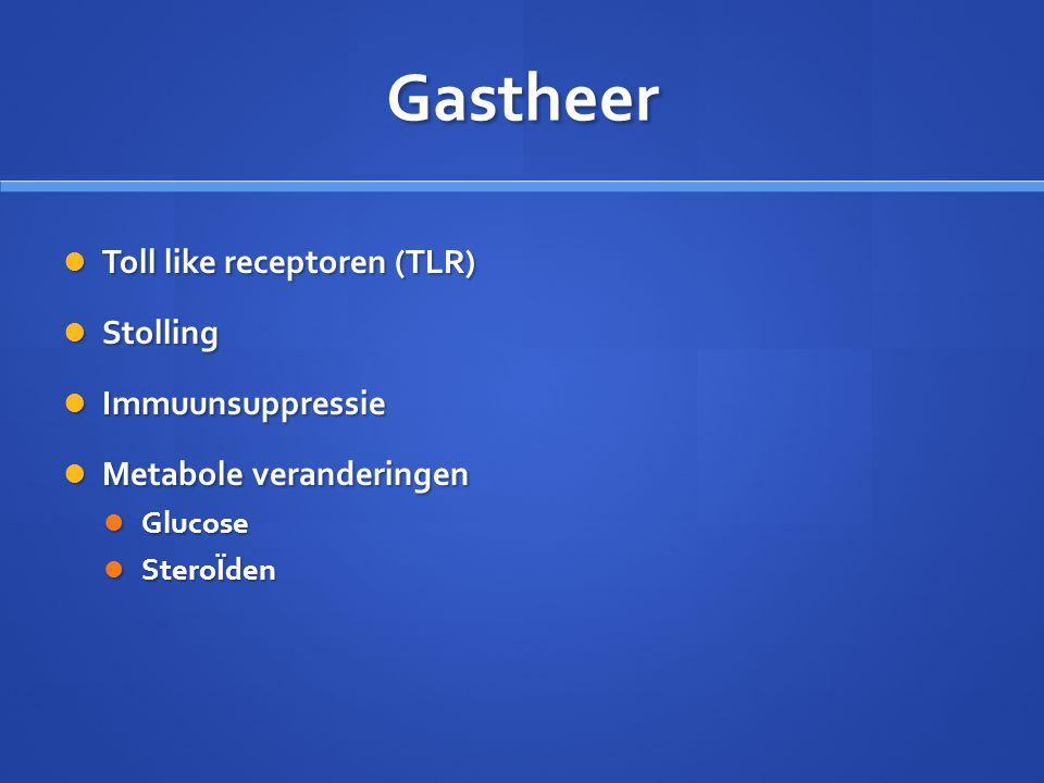 Gastheer Toll like receptoren (TLR) Stolling Immuunsuppressie