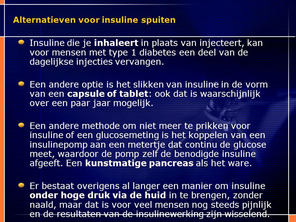 Alternatieven voor insuline spuiten