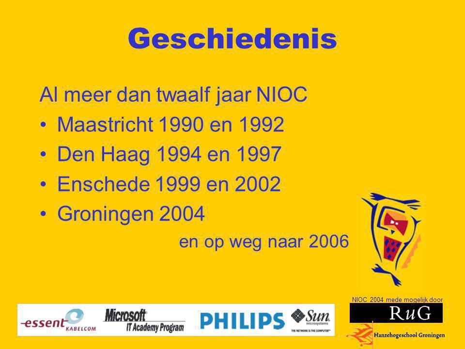 Geschiedenis Al meer dan twaalf jaar NIOC Maastricht 1990 en 1992