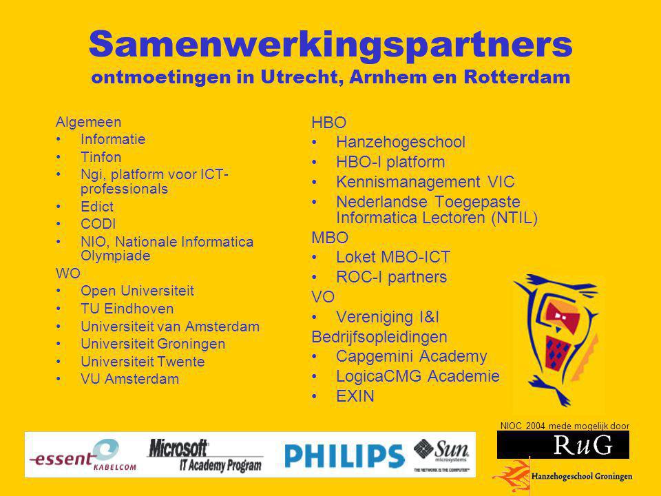 Samenwerkingspartners ontmoetingen in Utrecht, Arnhem en Rotterdam