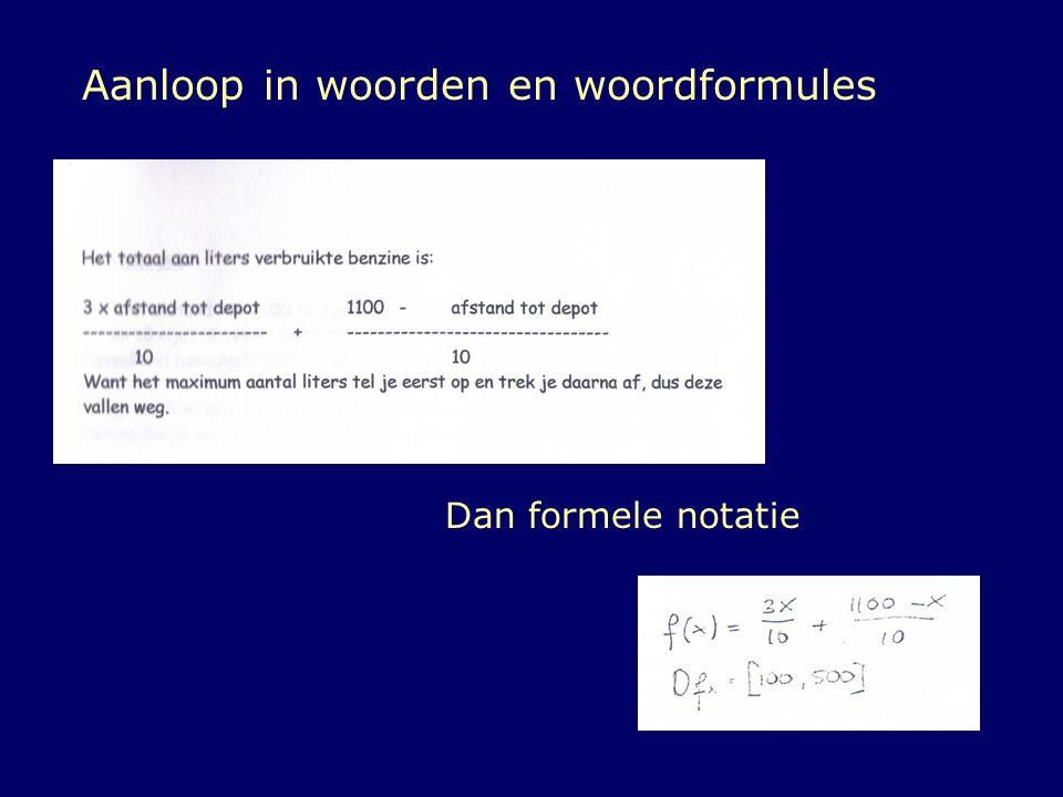 Aanloop in woorden en woordformules
