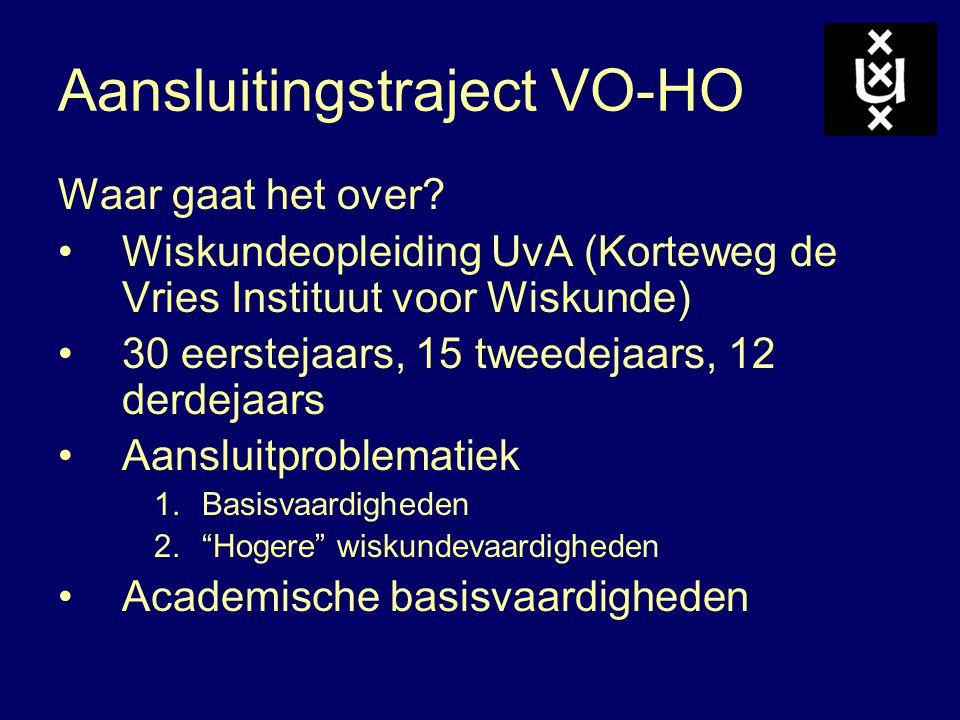 Aansluitingstraject VO-HO
