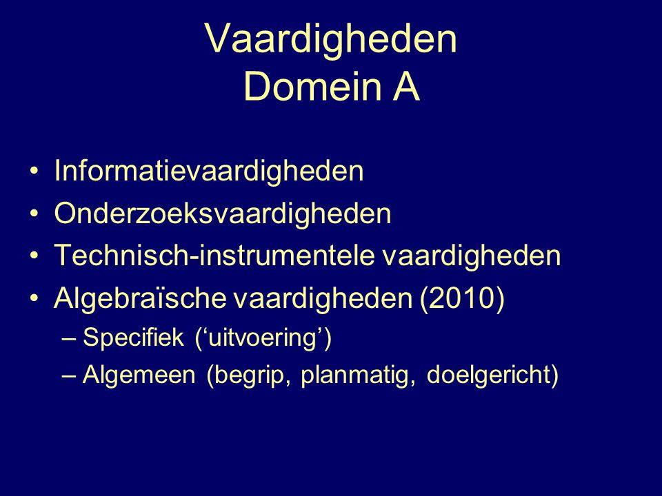 Vaardigheden Domein A Informatievaardigheden Onderzoeksvaardigheden