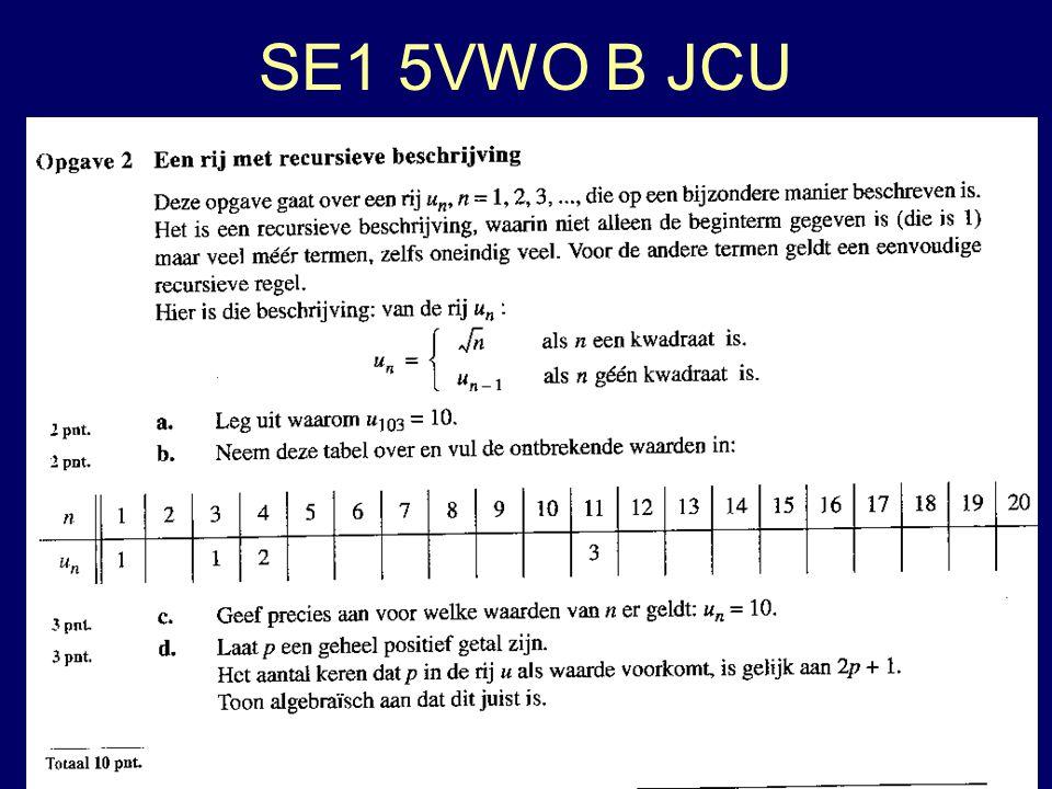 SE1 5VWO B JCU 22 lln 7 geen antwoord op 2d.