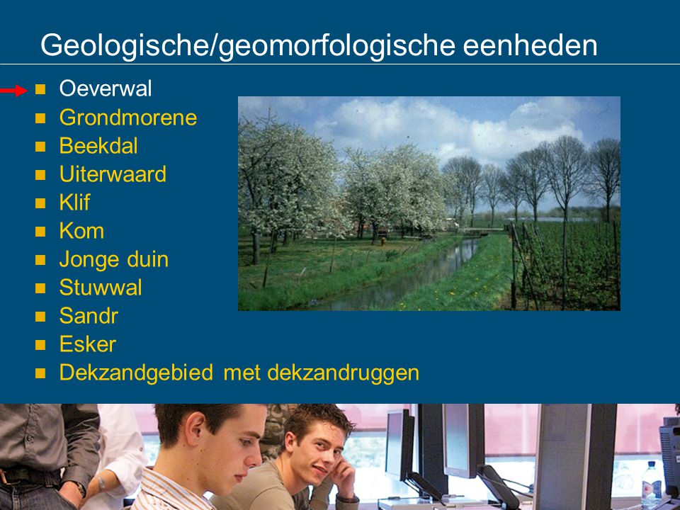 Geologische/geomorfologische eenheden