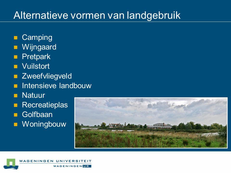Alternatieve vormen van landgebruik