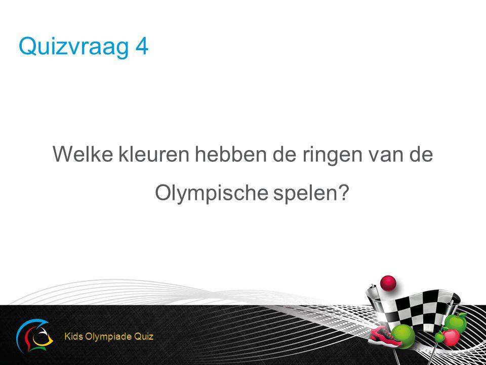 Welke kleuren hebben de ringen van de Olympische spelen