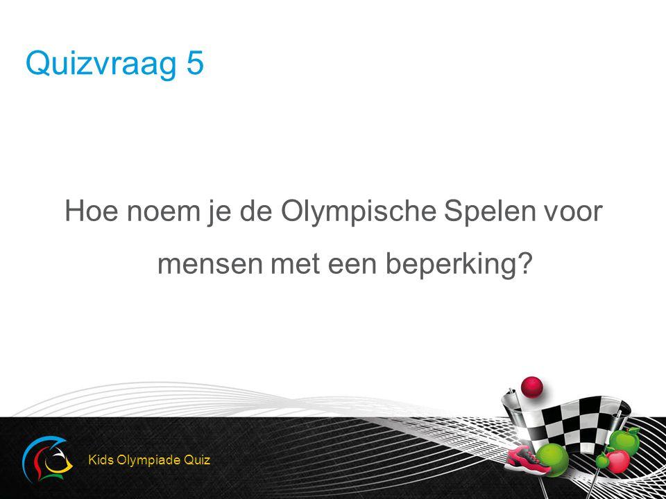 Hoe noem je de Olympische Spelen voor mensen met een beperking