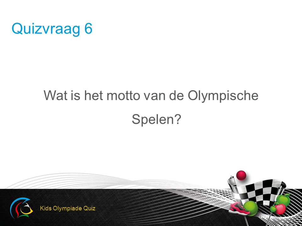 Wat is het motto van de Olympische Spelen