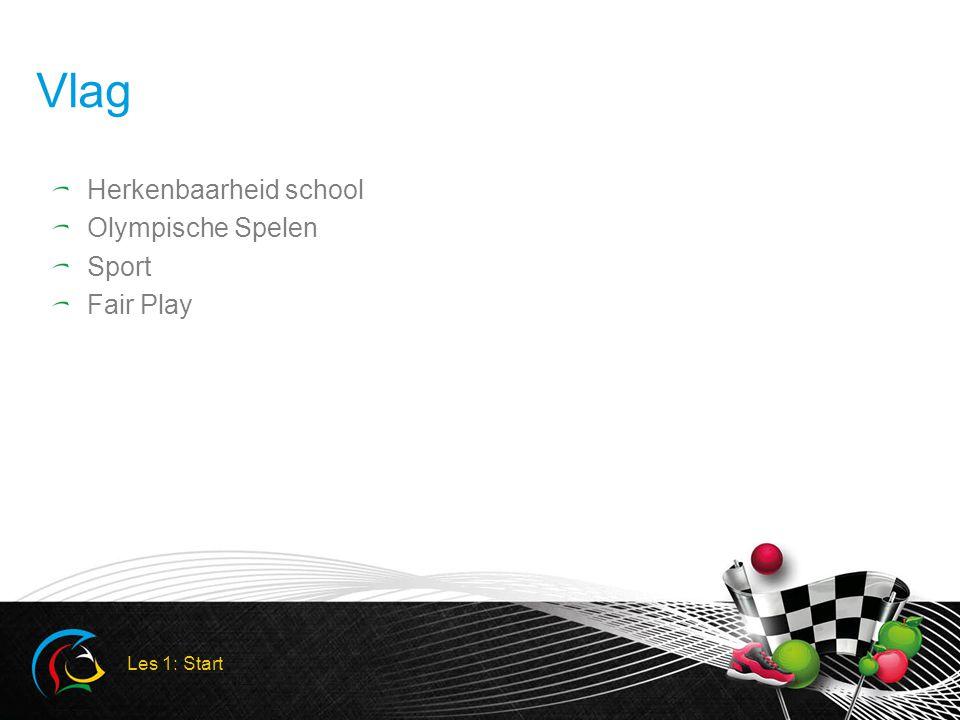 Vlag Herkenbaarheid school Olympische Spelen Sport Fair Play