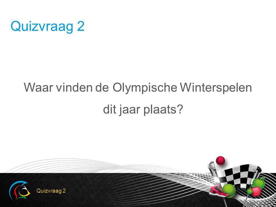 Waar vinden de Olympische Winterspelen dit jaar plaats