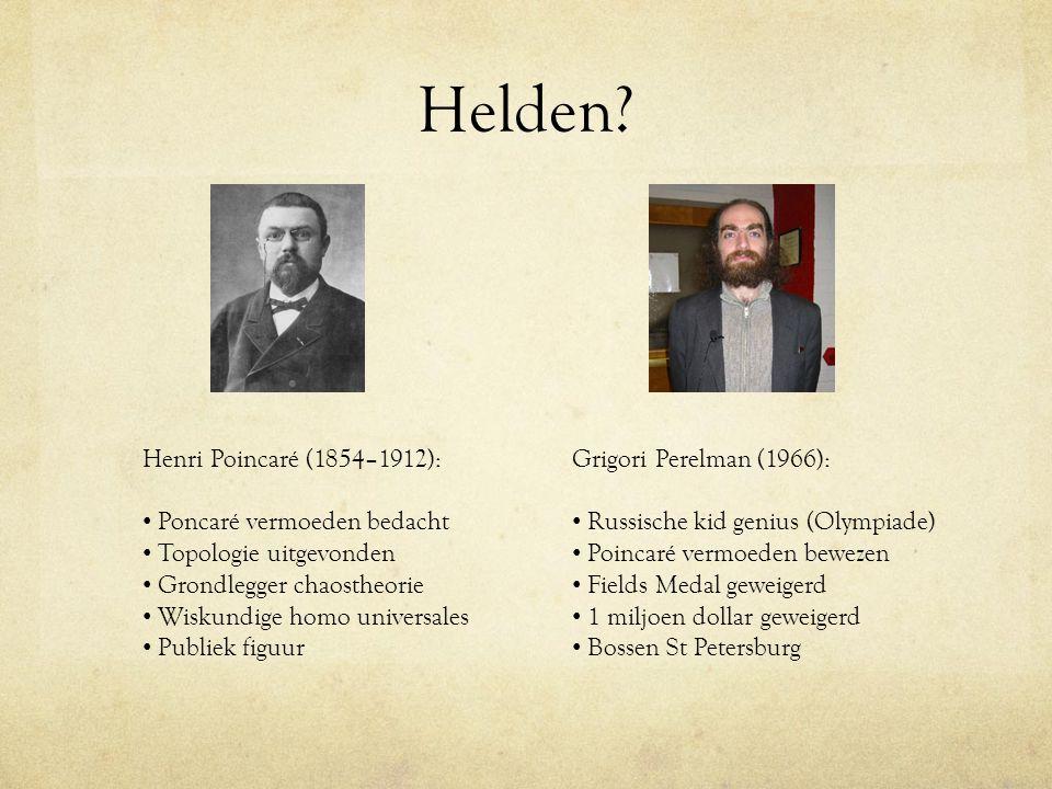 Helden Henri Poincaré (1854–1912): Poncaré vermoeden bedacht