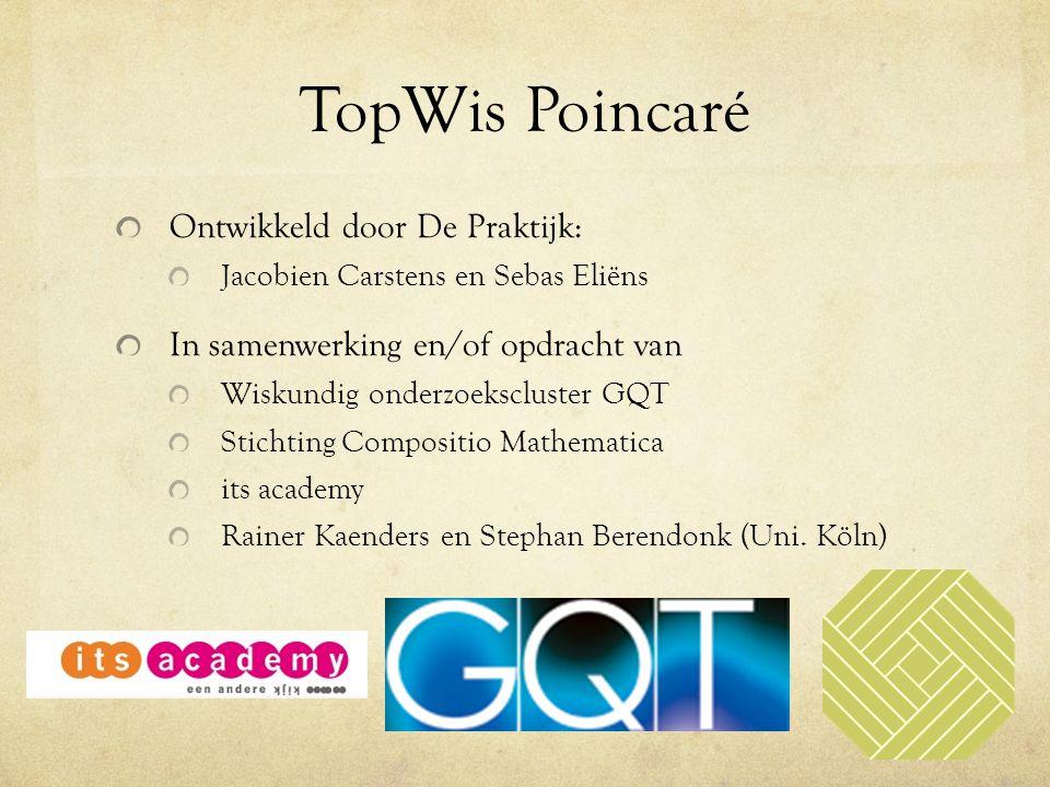 TopWis Poincaré Ontwikkeld door De Praktijk: