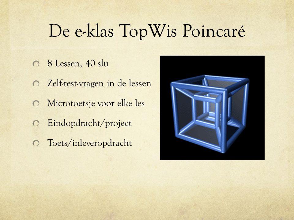 De e-klas TopWis Poincaré