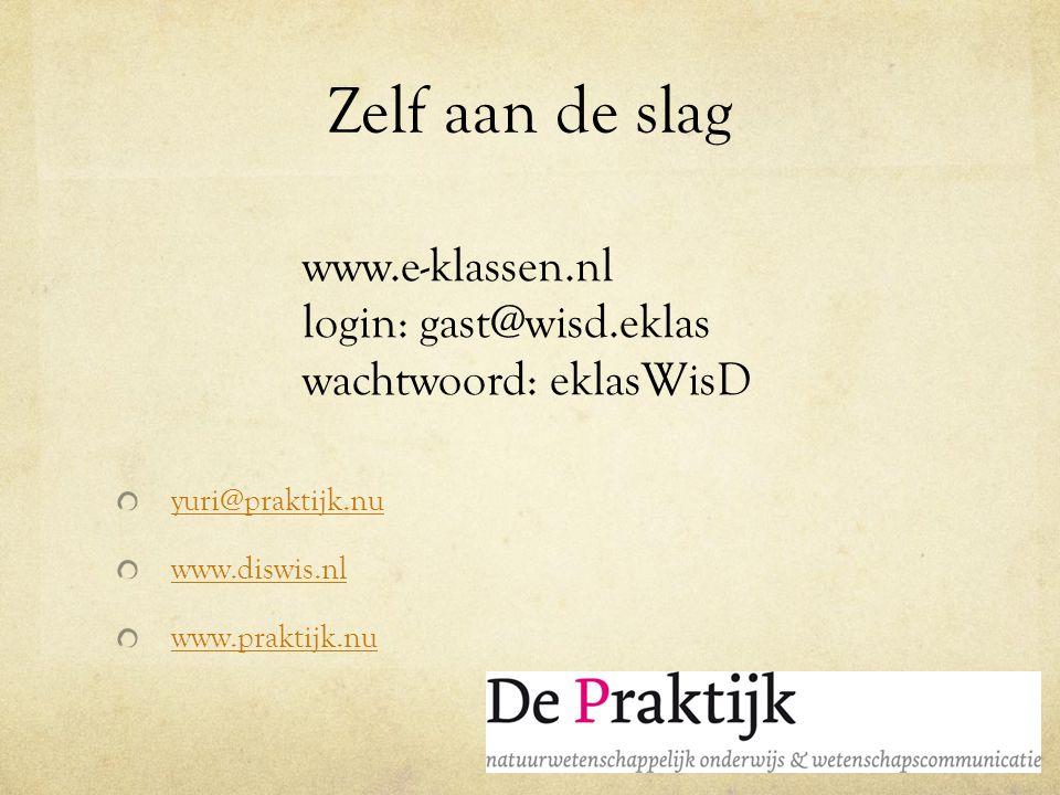 Zelf aan de slag www.e-klassen.nl
