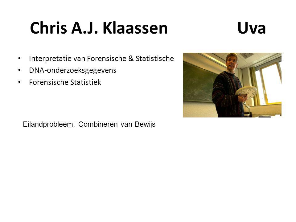 Chris A.J. Klaassen Uva Interpretatie van Forensische & Statistische