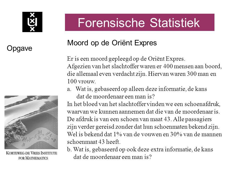 Forensische Statistiek