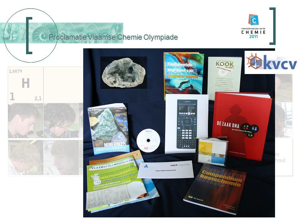 Proclamatie Vlaamse Chemie Olympiade