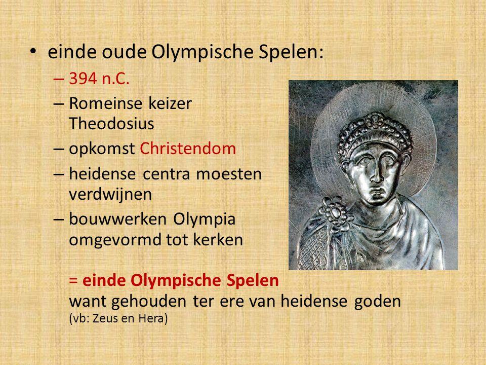 einde oude Olympische Spelen: