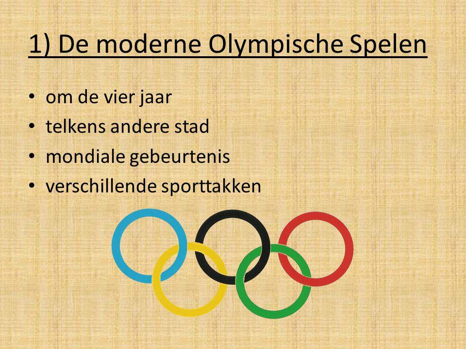 1) De moderne Olympische Spelen