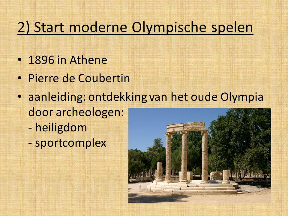 2) Start moderne Olympische spelen