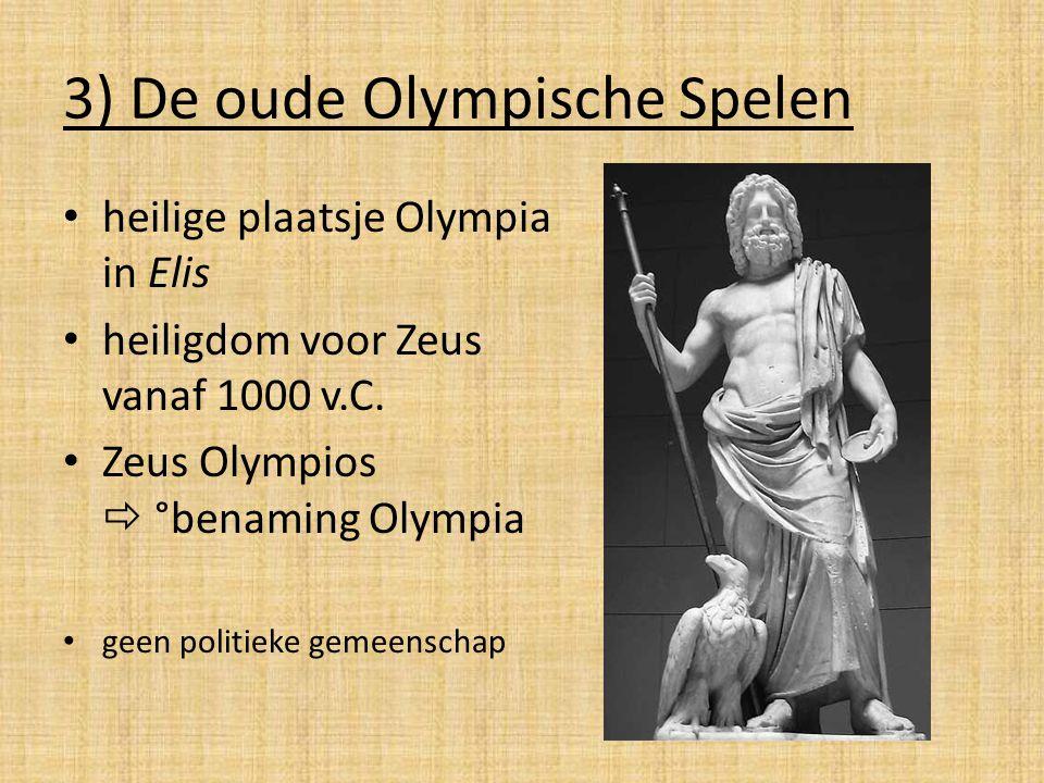 3) De oude Olympische Spelen
