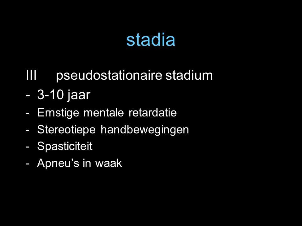 stadia III pseudostationaire stadium 3-10 jaar